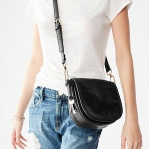Fossil RUMI Black Crossbody | Leather